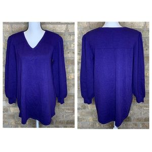 Style & Co Pleated Sleeve Tunic Sweater - D21